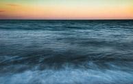 Dorset sea at sunset