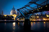 Millenium bridge across the Thames London - April 2016 LPMG