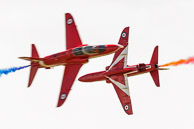 Formation display Hawk T1 Red Arrows